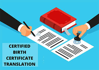 Certified birth certificate translation